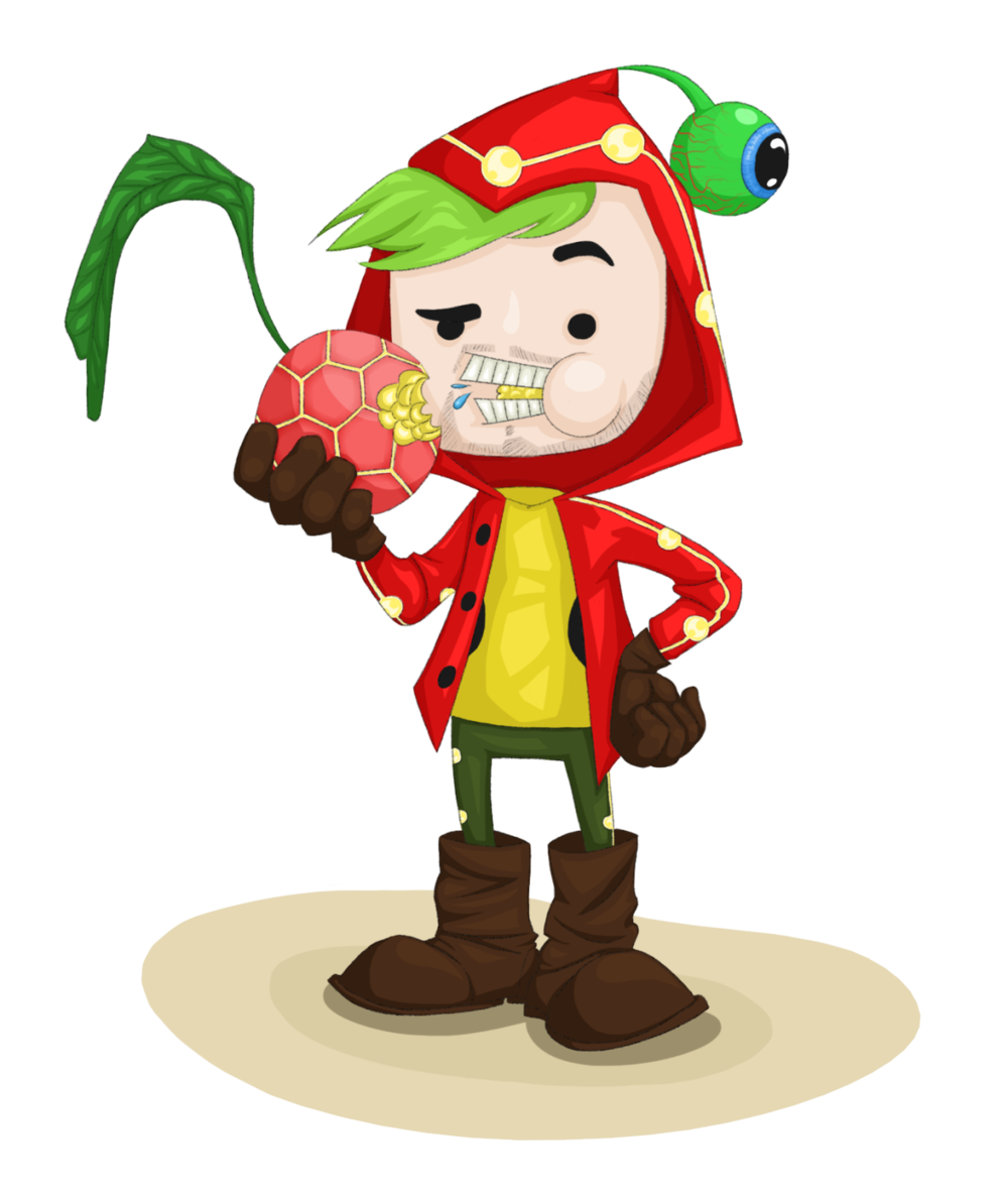 Some Jacksepticeye themed fan art! Don't eat those fruits in-game. KA-BOOM!
